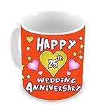 TiedRibbons 25th wedding Anniversary Gift Coffee Mug(325ml,White)