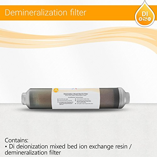 Mixed Bed Ion Exchange Resin DI Filter 0 PPM TDS RO.DI Inline Water Filter