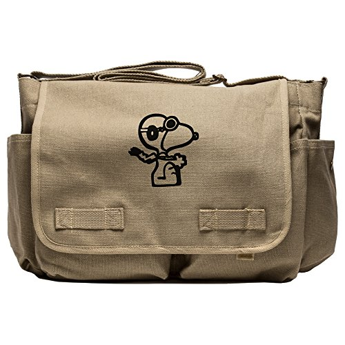 Canvas Diaper Bag In Tan And Black - 1