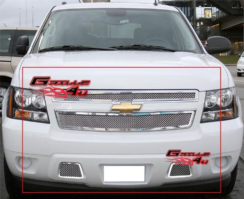 (APS Fits 2007-2014 Chevy Tahoe/Suburban/Avalanche Mesh Grille Grille Insert Combo # C77919T)