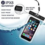 "ZEINZE Waterproof Case Universal Waterproof Phone Bag Pouch Drg Bag for Iphone 6 6S 7 Plus 5 5S 5C Galaxy S8 S7 S6 S5 S4 Note 5 4 3 Google Pixel HTC LG SONY MOTO Devices Up to 6"" 4 Pack"