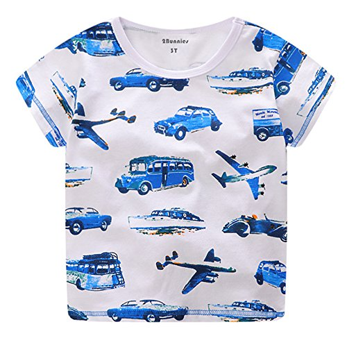 2Bunnies Vintage Airplanes Cotton T Shirt product image