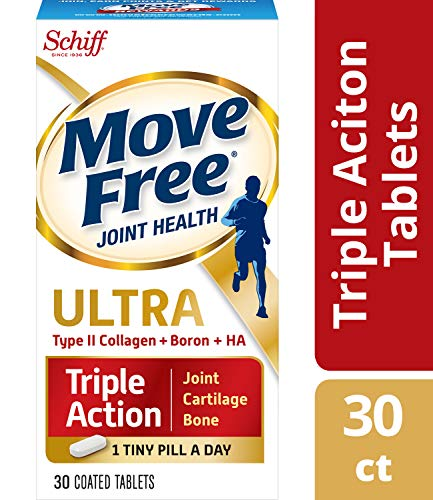 (Type II Collagen, Boron & HA Ultra Triple Action Tablets, Move Free (30 count in a bottle), Joint Health Supplement With Just 1 Tiny Pill Per Day To Promote Joint,)