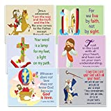 NewEights Christian Postcards Cards for Kids - God Is Love Theme (60 Pack)