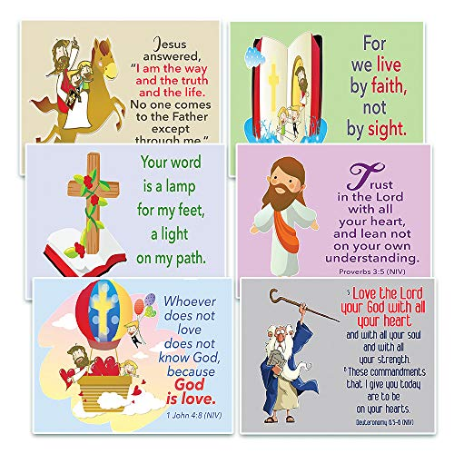 - NewEights Christian Postcards Cards for Kids - God Is Love Theme (60 Pack)
