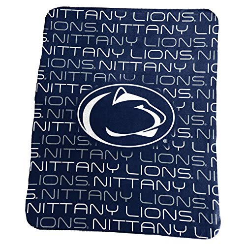 Logo Brands NCAA Penn State Nittany Lions Classic Fleece, One Size, Navy