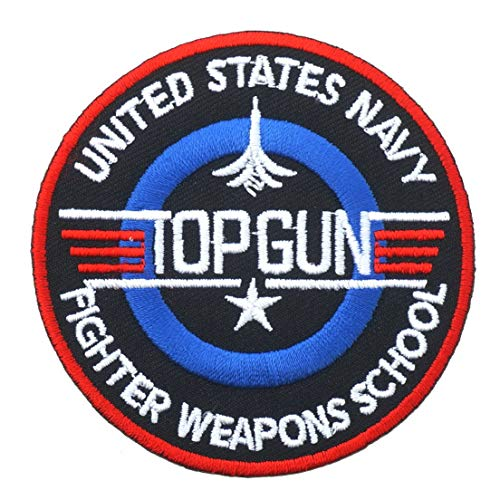 Top Gun Embroidered Iron on or Sew On Patch