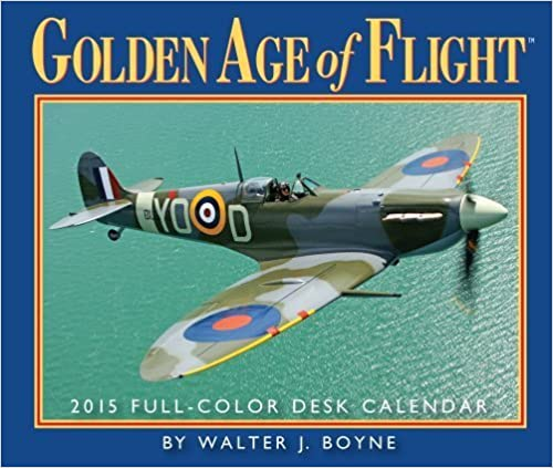 2015 Golden Age of Flight Desk Calendar Gladstone Media by