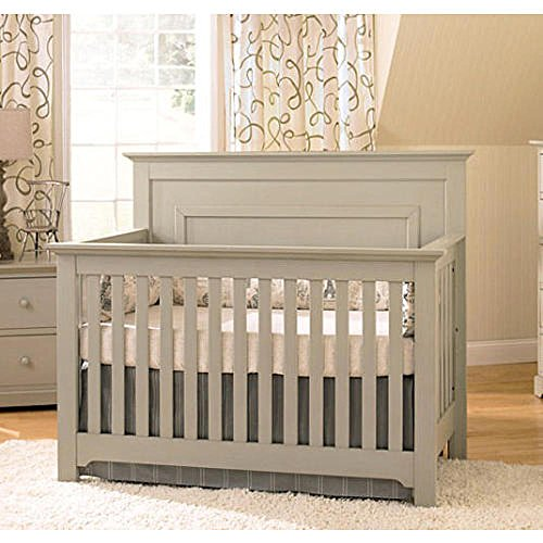 Full Size Conversion Kit Bed Rails for Baby Cache Chesapeak, Medford, Riverside & Windsor Cribs - Gray by CC KITS (Image #1)