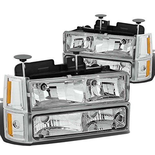 DNA Motoring HL-OH-8P-C10-3G-CH-AM Headlight Assembly, Driver and Passenger Side