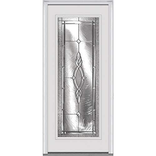 "UPC 769001037216, National Door Company Z000472R Prehung Right Hand Inswing Entry Door, Brentwood Decorative Glass, Full Lite, Fiberglass Smooth, 36"" x 80"""