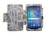 i-UniK Huawei MediaPad T3 7 Compatible Slim Folio Kickstand Tablet Case [Bonus Stylus] (ACU CAMO)