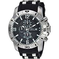 Men's 'Pro Diver' Quartz Stainless Steel Casual Watch, Color:Black (Model: 24962)