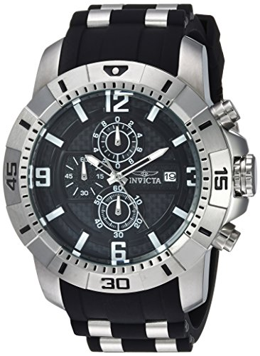 Invicta Men's Pro Diver Quartz Watch with Stainless-Steel Strap, Black, 26 (Model: 24962)