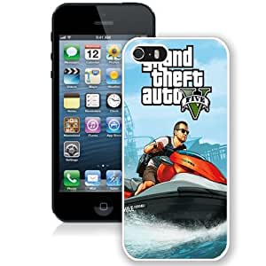 Personalized Phone Case Design with GTA 5 Michael on Jetski iPhone 5s Wallpaper in White