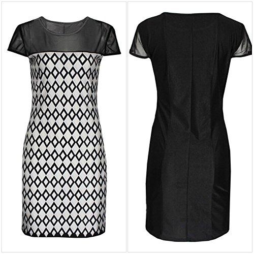 KingField - Robe - Moulante - Manches Courtes - Femme Medium