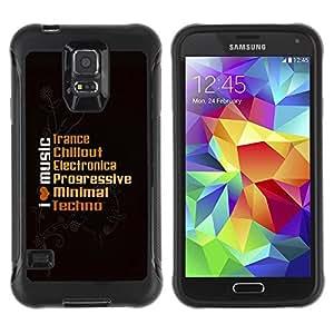 Suave TPU Caso Carcasa de Caucho Funda para Samsung Galaxy S5 SM-G900 / I Live Music / STRONG
