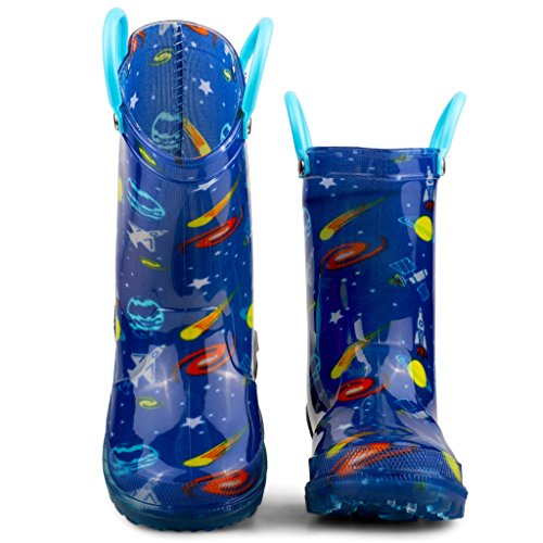 Chillipop Light Up Rainboots For Boys, Girls & Toddlers With Fun Kid Prints With 5 Lights by Chillipop (Image #2)