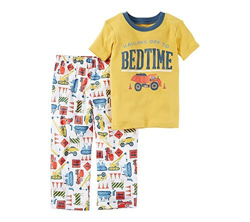 Carter's Boys' 12M-4T 2 Piece Bedtime Construction Print Pajama Set 12 (Boys Carters 2 Piece)