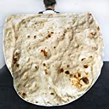 Sleepwish Burrito Manta 3D maíz Omelette Franela Manta, Amarillo, 40 inche