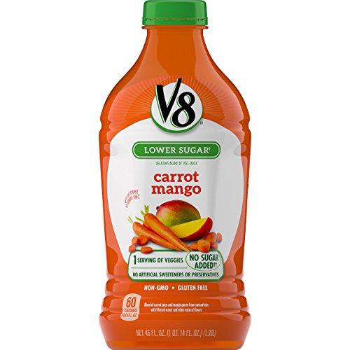 - V8 Carrot Mango, 46 oz. Bottle (Pack of 6)