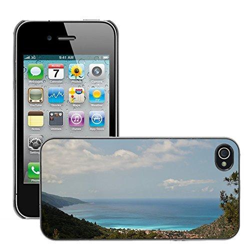 Bild Hart Handy Schwarz Schutz Case Cover Schale Etui // M00133797 Türkei Marmaris Meer // Apple iPhone 4 4S 4G