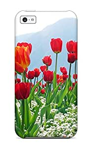 Alicia Russo Lilith's Shop Hot 2567669K42218648 Iphone 5c Case, Premium Protective Case With Awesome Look - Tulips Flower Plantation