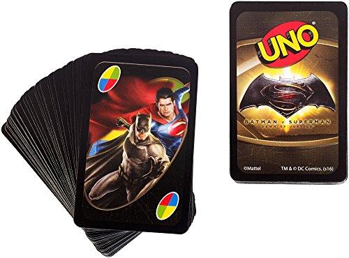 Mattel Spiele DRL58 - UNO Batman v Superman, Kartenspiel