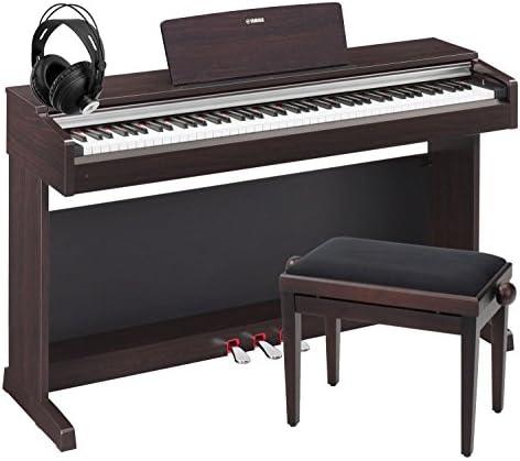 Yamaha YDP-142 R Arius – Piano digital rosa palo set incluye banco y auriculares