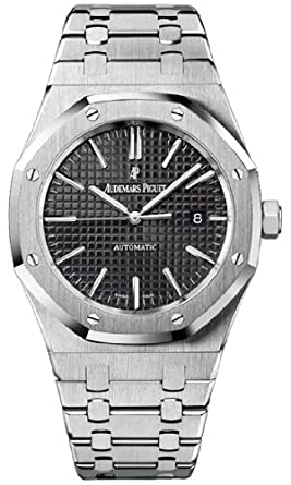 amazon com audemars piguet royal oak black dial stainless steel audemars piguet royal oak black dial stainless steel mens watch 15400stoo1220st01
