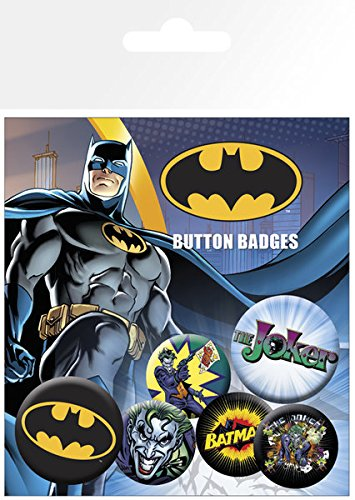 GB Eye LTD, Batman Comic, Logo and Joker, Set de Boutons BP0470