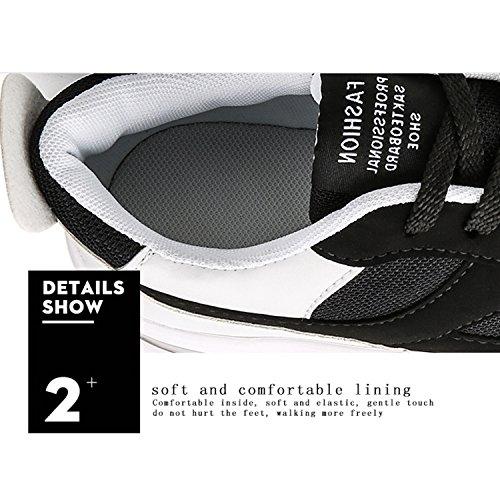 Compensées Blanc Sandales Noir Homme Bornran 6nTaBqq