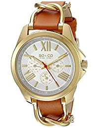 SO & CO New York  Women's 5215.2 SoHo Analog Display Quartz Brown Watch