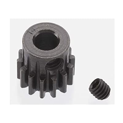 Robinson Racing 8614 Extra Hard 14 Tooth Blackened Steel 32P Pinion 5Mm: Toys & Games