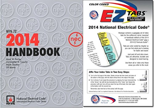 NFPA 70: National Electrical Code (NEC) Handbook and EZ Tabs (Color Coded) Set, 2014 Edition by NFPA