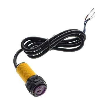 Smart Car Robot E18一D80NK Infrarrojo Obstáculo Sensor fotoeléctrico Sensor de proximidad Interruptor de proximidad 3一80 cm Rango de detección Ajustable: ...