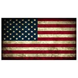 Rustic American Flag Decal - High Quality Vinyl Graphic Bumper Sticker perfect for your car, truck, suv, rv, motorcycle, scooter, van, semi or whatever it is you drive.