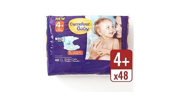 Carrefour bebé Ultra Dry pañales tamaño 4 + Esencial Pack 48 ...