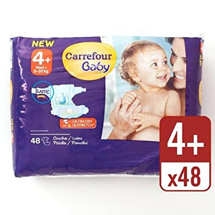 Carrefour bebé Ultra Dry pañales tamaño 4 + Esencial Pack 48 Pañales