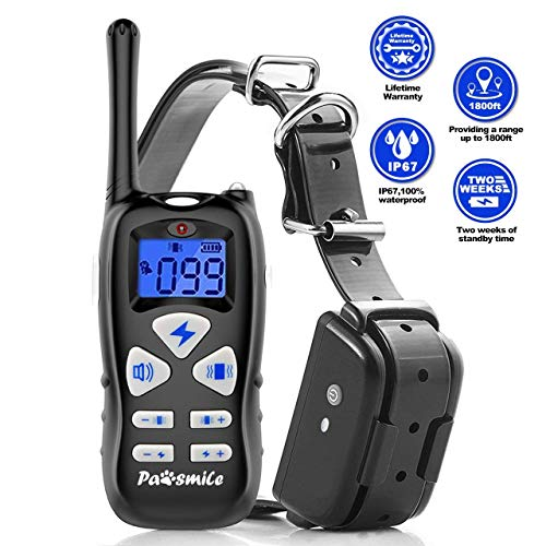 Petutor Dog Training Collar with Remote Rechargeable Dog Shock Collar with 3 Training Modes Beep/Vibrating/Shock, IP67 Waterproof Dog E-Collar Dog Bark Collar for Small Medium Large Dogs