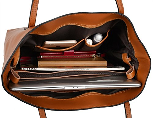 434eab07b315 Save 30% on YALUXE Women s Large Capacity Leather Work Tote Zipper Closure Shoulder  Bag