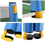 EZONEDEAL Retractable Ping Pong Net Portable Table Tennis Rack Perfect for Ping Pong Table, Office Desk, Home