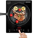 SUNAVO Portable Induction Cooktop, 1800W Sensor Touch Basic Induction Burner, 15 Temperature Power Setting CB-I11
