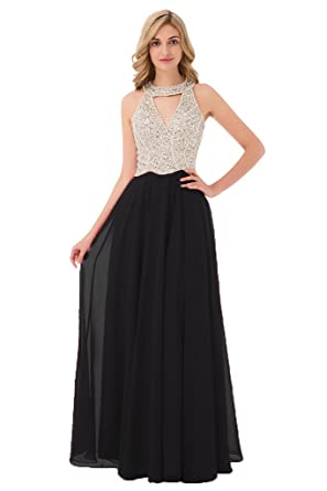 Aishanglina 2017 Long Beaded Backless vestidos de fiesta Formal Evening Gown Party Pageant Dresses (US
