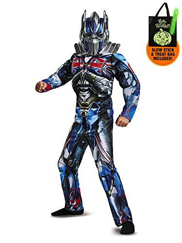 Classic Optimus Girls Costumes (Transformers - Optimus Prime Classic Muscle Child Costume Treat Safety Kit-M)