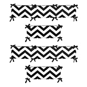 Sweet Jojo Designs Black and White Chevron Collection Crib Bumper