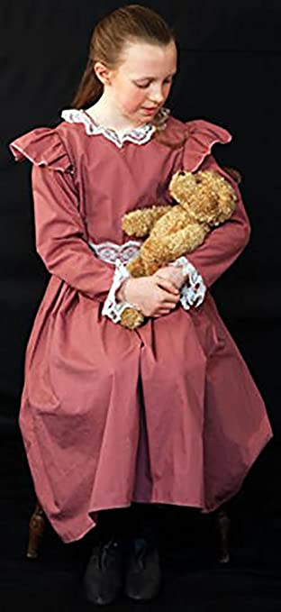 Victorian Kids Costumes & Shoes- Girls, Boys, Baby, Toddler Poppins Edwardian Girl Dress (Dusky Pink) - All Ages $45.00 AT vintagedancer.com