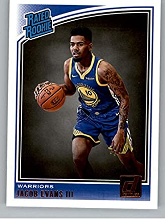 2018-19 Donruss  178 Jacob Evans III Rated Rookie RC Rookie Golden State  Warriors a93e8ce42