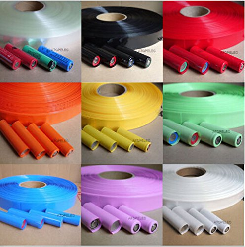 1pc 29.5MM ¦µ18.5MM PVC Heat Shrink Tubing For 18650 18500 Battery 5m(16.4 feet) (Best Aftermarket Gun Stocks)
