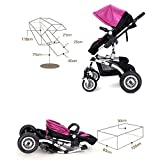 YIHANGG Baby Trolley Child Baby Stroller Can Sit Can Lie Down Two-way Fold Four Rounds High Landscape Baby Children Strollers Travel Stroller,C